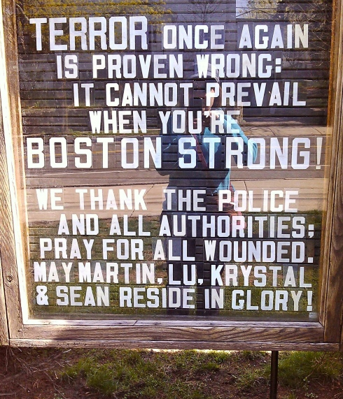 This sign outside a church in Watertown shows true Patriotic spirit.