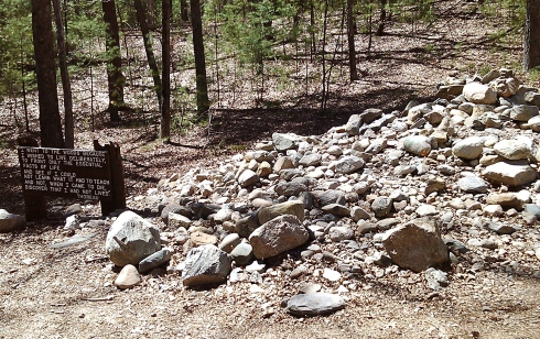 Visitors to the site of my Henry's cabin often leave a rock.