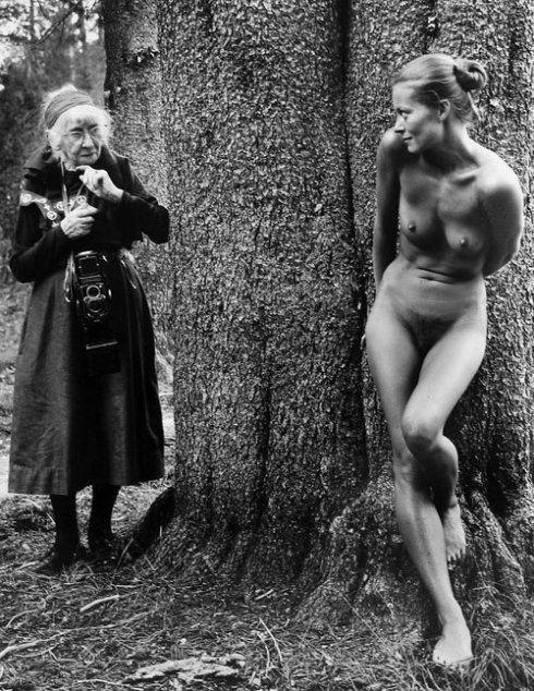 Imogen Cunningham, left, was one of the first female photographers to make a statement.