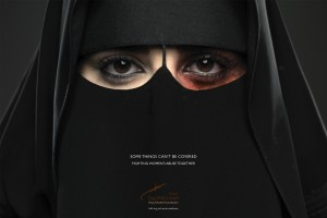 This image is being used by a group in Saudi Arabia to combat violence against women and children.