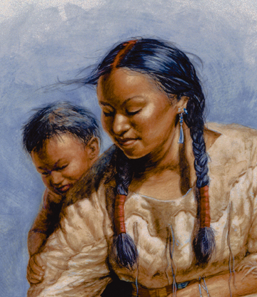 Sacagawea and her son, Jean Baptiste Charbonneau
