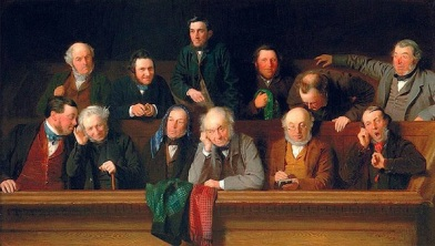 'The Jury,' by John Morgan, a historical painting in more than one way.