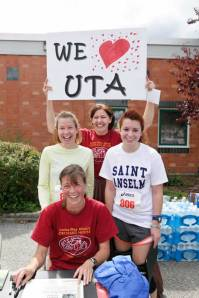 Uta is a HUGE supporter of the annual road race to support my old digs.