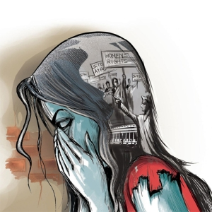 This image accompanied the story of the gang rapes in Badaun, India. It was published today in the india.com.