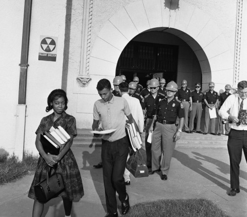 Students Dorothy Bridget DAvis, 16 and Henry Hobdy, 17, are barred from entering their high school in Alabama on this day in 1963 because they are black.