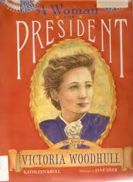 Victoria Claflin Woodruff campaigns for Presidency of the United States.