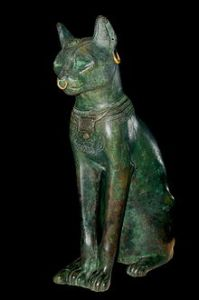 The Grayer-Anderson Cat is s bronze statue dating back to 664-332 BC, when cats, especially Black Cats, were considered sacred. It is almost as famous as Felix the Cat.