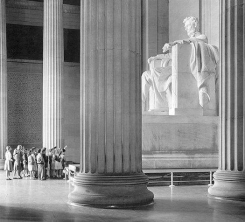 Daniel Chester French, who sculpted the Lincoln Memorial, took his first sculpting lessons from my sister Abigail May Alcatt.