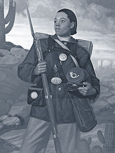 Cathay Williams disguised herself as a man and went by the name William Cathay so she could serve as a Buffalo Soldier in the Civil War. Cathay is not only the first documented woman to enlist in the United States Military, she is also the first African-American woman to do so.